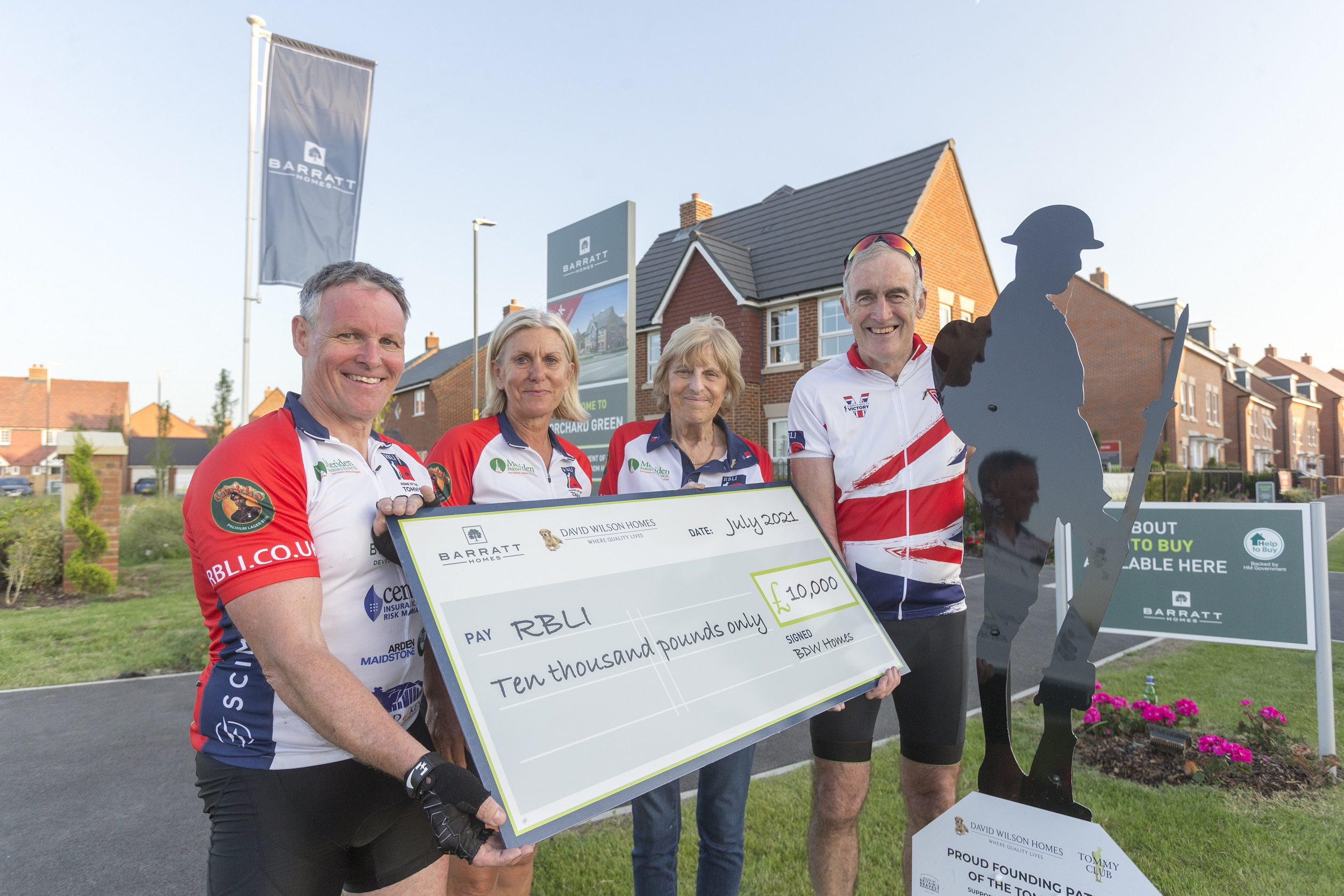 BARRATT PEDALS ITS SUPPORT FOR ROYAL BRITISH LEGION INDUSTRIES IN 150 MILE CYCLE RIDE