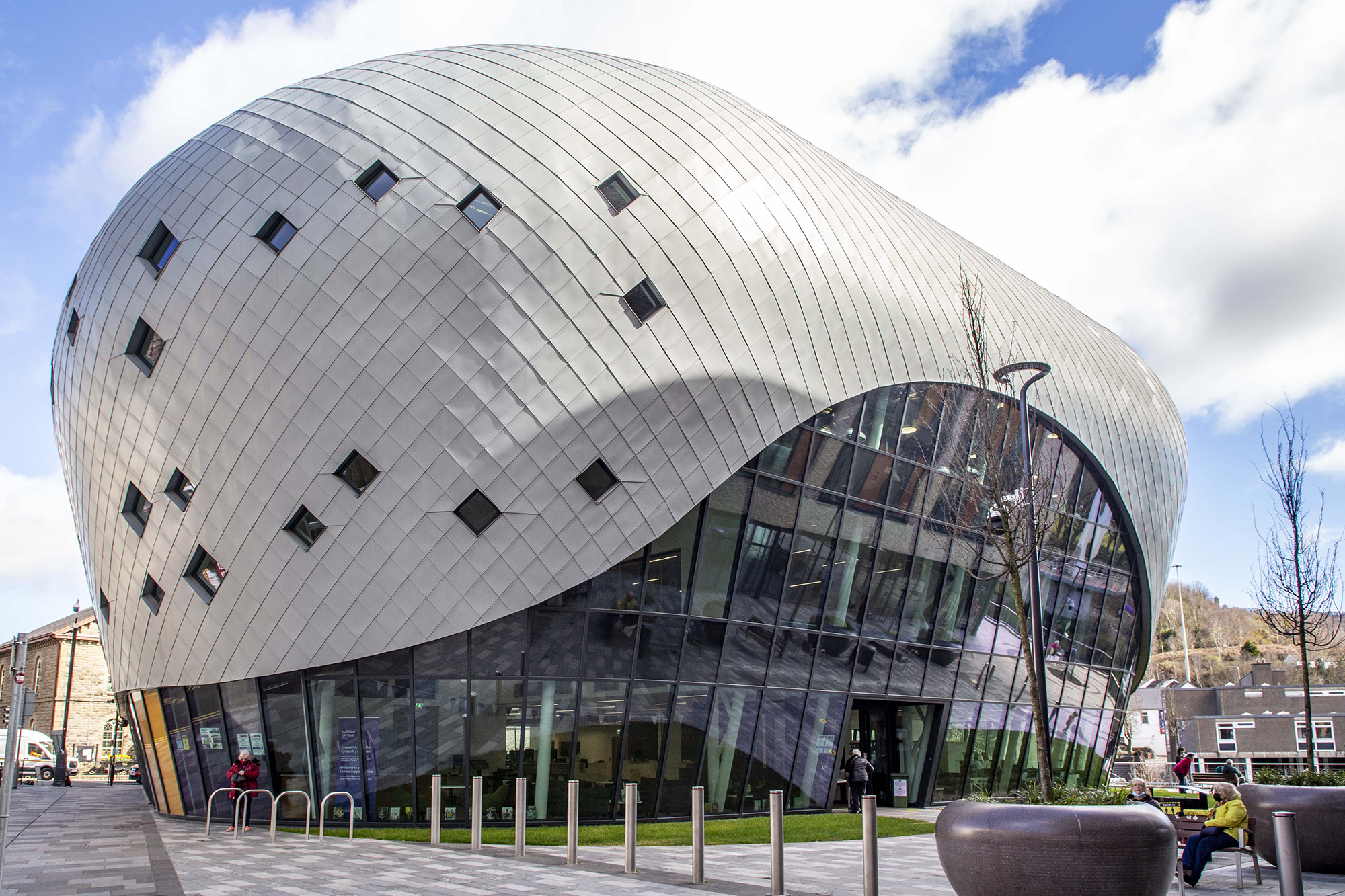 Kawneer glazing systems help with a Welsh town's regeneration