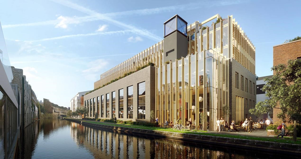 Europe's largest wooden framed building goes green